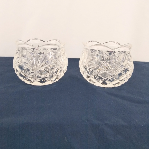 Partylite palm leaf votive candle holders